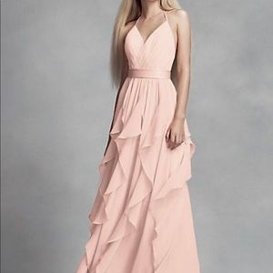 Chiffon Bridesmaid Dress with Cascading Skirt